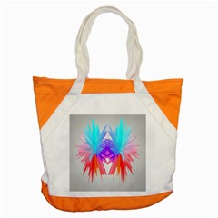 Poly Symmetry Spot Paint Rainbow Accent Tote Bag