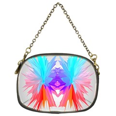 Poly Symmetry Spot Paint Rainbow Chain Purses (Two Sides)