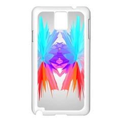 Poly Symmetry Spot Paint Rainbow Samsung Galaxy Note 3 N9005 Case (White)