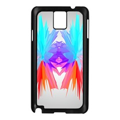Poly Symmetry Spot Paint Rainbow Samsung Galaxy Note 3 N9005 Case (Black)