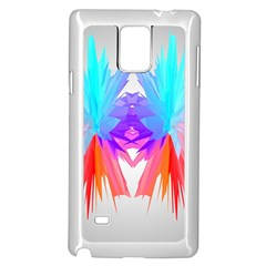 Poly Symmetry Spot Paint Rainbow Samsung Galaxy Note 4 Case (White)