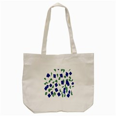 Scatter Geometric Brush Blue Gray Tote Bag (Cream)