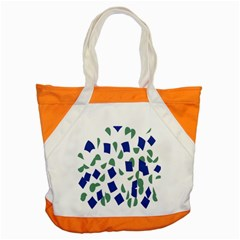 Scatter Geometric Brush Blue Gray Accent Tote Bag