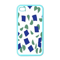 Scatter Geometric Brush Blue Gray Apple iPhone 4 Case (Color)