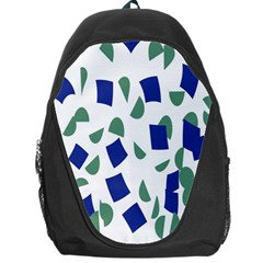 Scatter Geometric Brush Blue Gray Backpack Bag