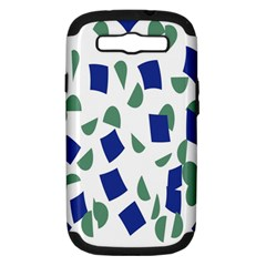 Scatter Geometric Brush Blue Gray Samsung Galaxy S III Hardshell Case (PC+Silicone)