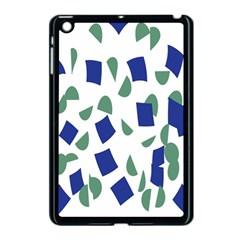 Scatter Geometric Brush Blue Gray Apple iPad Mini Case (Black)