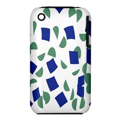 Scatter Geometric Brush Blue Gray iPhone 3S/3GS