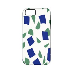 Scatter Geometric Brush Blue Gray Apple iPhone 5 Classic Hardshell Case (PC+Silicone)