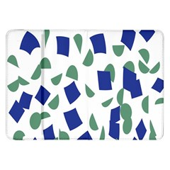Scatter Geometric Brush Blue Gray Samsung Galaxy Tab 8.9  P7300 Flip Case