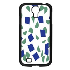 Scatter Geometric Brush Blue Gray Samsung Galaxy S4 I9500/ I9505 Case (Black)