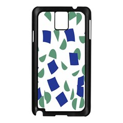 Scatter Geometric Brush Blue Gray Samsung Galaxy Note 3 N9005 Case (Black)