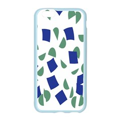 Scatter Geometric Brush Blue Gray Apple Seamless iPhone 6/6S Case (Color)