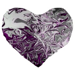Colors Large 19  Premium Flano Heart Shape Cushions