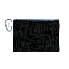 Pattern Canvas Cosmetic Bag (M)
