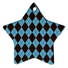 Plaid pattern Ornament (Star)