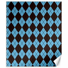 Plaid pattern Canvas 8  x 10