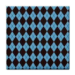 Plaid pattern Face Towel