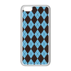 Plaid pattern Apple iPhone 5C Seamless Case (White)