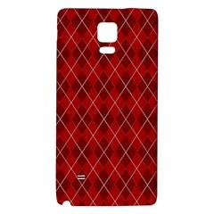 Plaid pattern Galaxy Note 4 Back Case