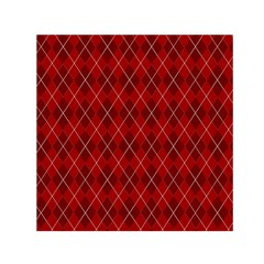 Plaid pattern Small Satin Scarf (Square)