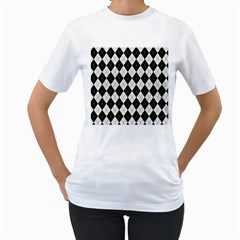 Plaid pattern Women s T-Shirt (White)