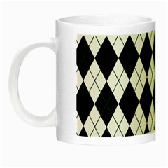 Plaid pattern Night Luminous Mugs
