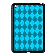 Plaid pattern Apple iPad Mini Case (Black)