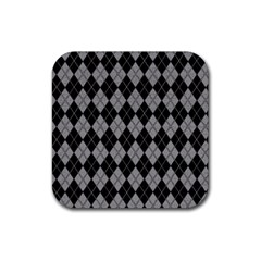 Plaid pattern Rubber Square Coaster (4 pack)