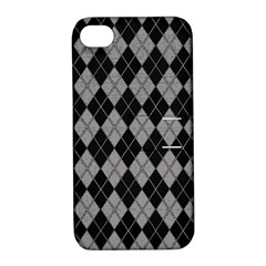 Plaid pattern Apple iPhone 4/4S Hardshell Case with Stand