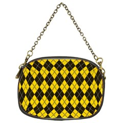 Plaid Pattern Chain Purses (one Side)