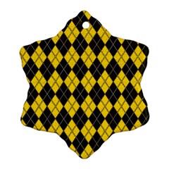 Plaid pattern Ornament (Snowflake)