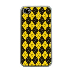 Plaid pattern Apple iPhone 4 Case (Clear)