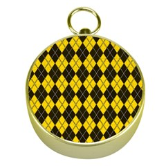 Plaid pattern Gold Compasses