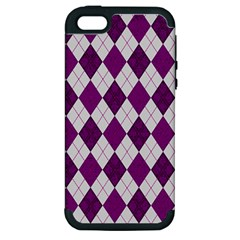 Plaid Pattern Apple Iphone 5 Hardshell Case (pc+silicone)