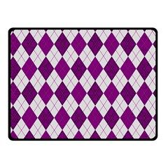 Plaid pattern Double Sided Fleece Blanket (Small)