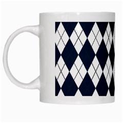 Plaid pattern White Mugs