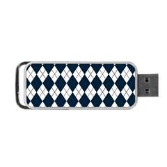 Plaid pattern Portable USB Flash (Two Sides)