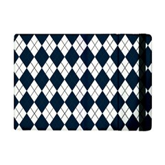 Plaid pattern Apple iPad Mini Flip Case