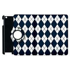 Plaid pattern Apple iPad 3/4 Flip 360 Case