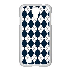 Plaid pattern Samsung GALAXY S4 I9500/ I9505 Case (White)