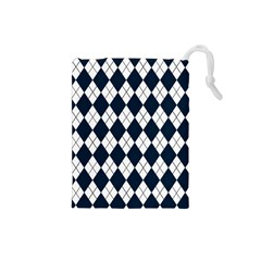 Plaid pattern Drawstring Pouches (Small)