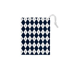 Plaid pattern Drawstring Pouches (XS)