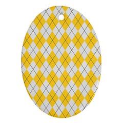 Plaid pattern Ornament (Oval)