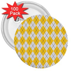 Plaid pattern 3  Buttons (100 pack)