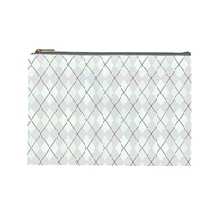 Plaid pattern Cosmetic Bag (Large)