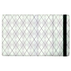 Plaid pattern Apple iPad 3/4 Flip Case