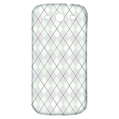 Plaid pattern Samsung Galaxy S3 S III Classic Hardshell Back Case