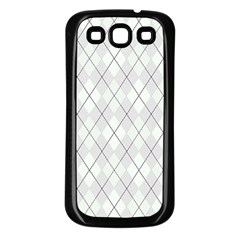 Plaid pattern Samsung Galaxy S3 Back Case (Black)
