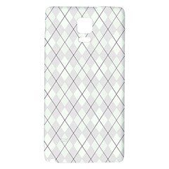 Plaid pattern Galaxy Note 4 Back Case